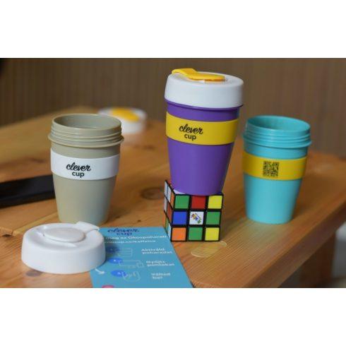 Clever Cup kávéhoz és teához  pohár - Szürke és Fehér